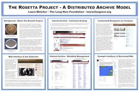 The Rosetta Project: A Distributed Archive Model