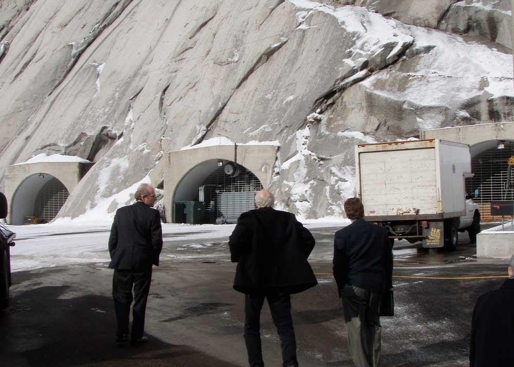 Entering the Mormon Vaults.  Stewart Brand in center