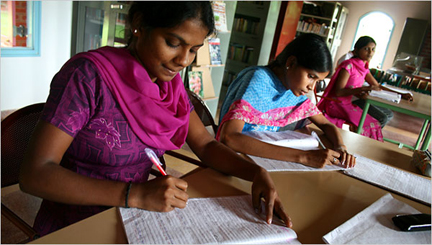 Students at the Adivasi Academy